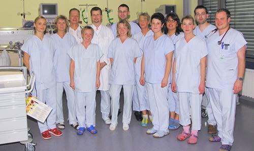 Team der Klinik für Anästhesiologie und Intensivmedizin